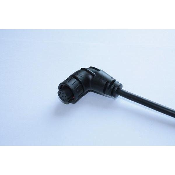 C2 5A 8P Cable End 90° Female Lock With Cable