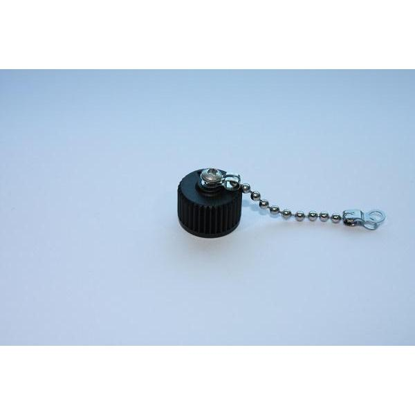 Cap Plastic For M12 Male End With Metal Chain (M3 Screw)