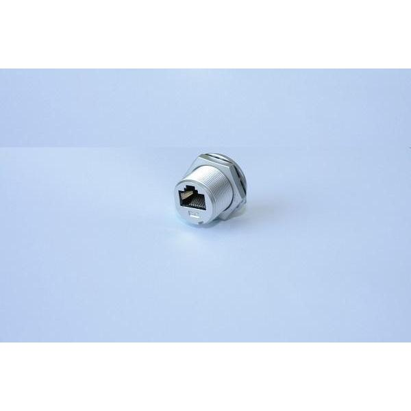 Ethernet-RJ45 Metal Screw Panel Jack DIP 90°