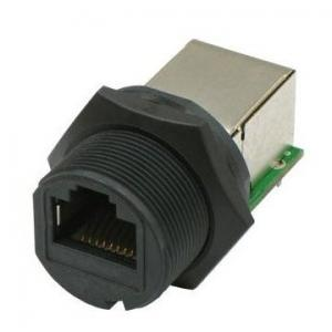 Ethernet Connector- RJ45 Plastic Screw Panel Mount coupler