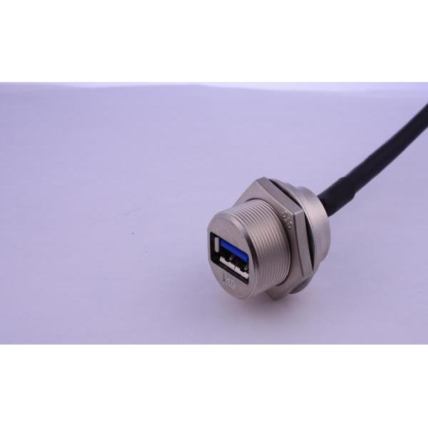 USB-A 3.0 Metal C3 Panel Jack Screw With Cable
