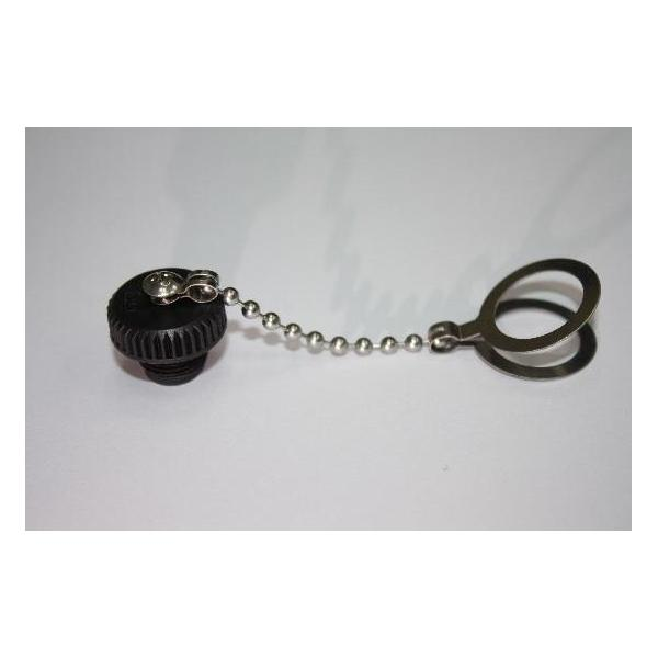 M12 Female Screw Cap With Metal Chain