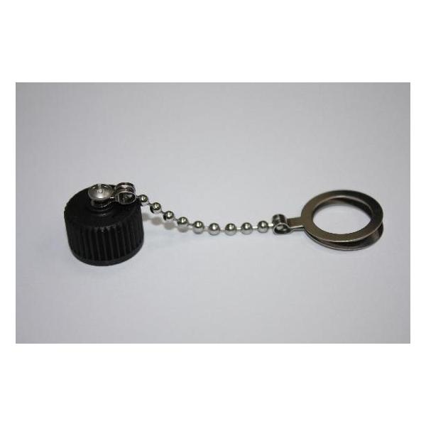 M12 Male Screw Cap With Metal Chain