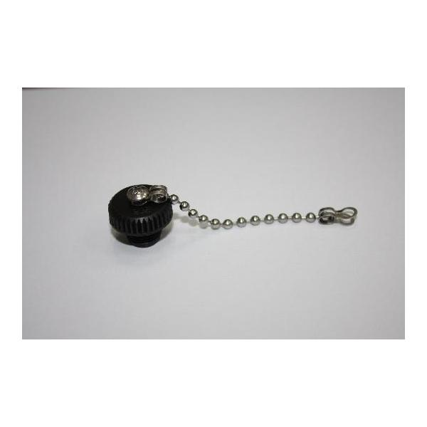 Cap Plastic For M12 Female End With Metal Chain (M3 Screw)