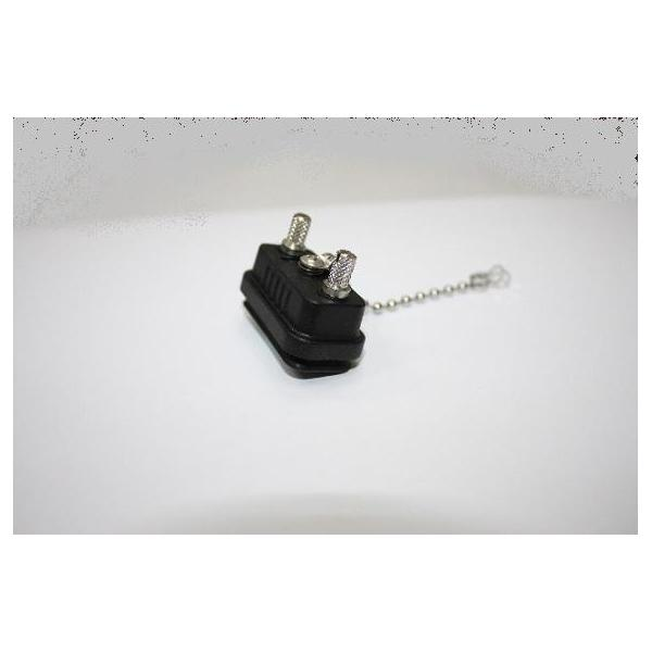Cap Plastic for D-SUB Stainless Screw Panel With Metal Chain