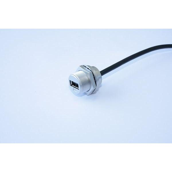 USB-A Metal C3 Panel Jack Screw With Cable